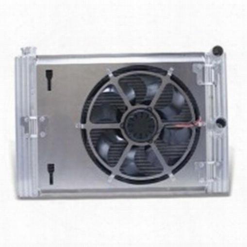 Flex-a-lite Flex-a-lite Flex-a-fit Radiator And Fan Package - 52387 52387 Radiator Electric Fan Combination Kit