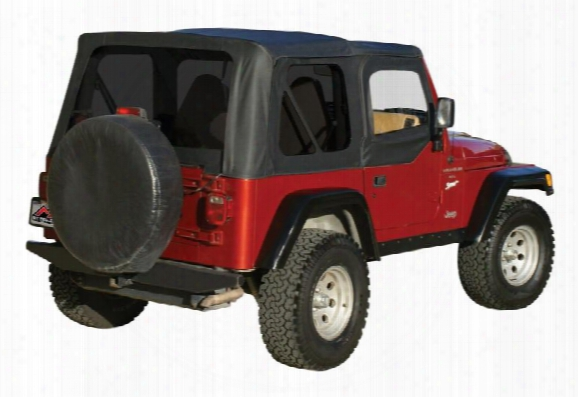Rt Off-road Rt Off-road Sailcloth Replacement Soft Top (black Diamond) - Rts20035t Rts20035t Soft Tops