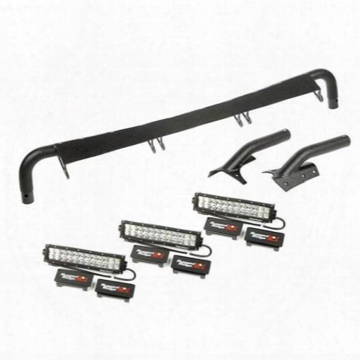 Rugged Ridge Rugged Ridge Windshield Light Bar Kit (black) - 11232.29 11232.29 Offroad Racing, Fog & Driving Lights