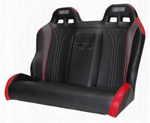 Simpson Racing Simpson Racing Vortex Rear Bench - Red - 116-510-306 116-510-306 Utv Seats