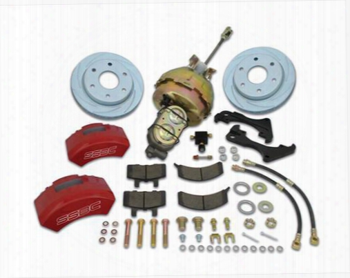 Stainless Steel Brakes Stainless Steel Brakes Supertwin Tk 2-piston Drum To Disc Brake Conversion Kit (anodized) - A126-7a A126-7a Disc Brake Conversi