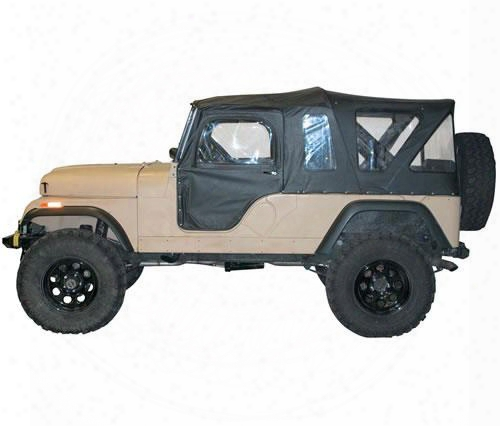 Bestop Tigertop In Black Vinyl 51306-01 - Jeep Cj6 Soft Tops