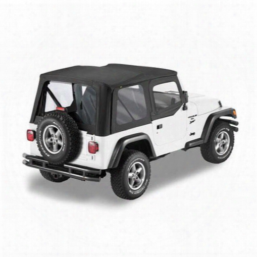 Bestop Sailcloth Replace-a-top, Upper Half Door Skin 79121-01 Soft Top