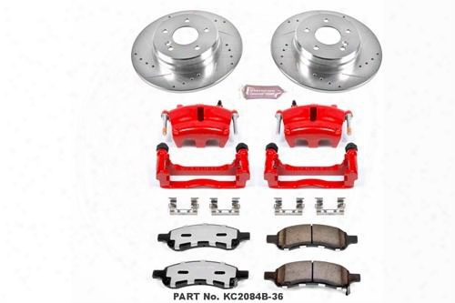 Power Stop Power Stop Z36 Extreme Performance Truck & Tow 1-click Brake Kit With Calipers (natural) - Kc2085b-36 Kc2085b-36 Disc Brake Calipers, Pads