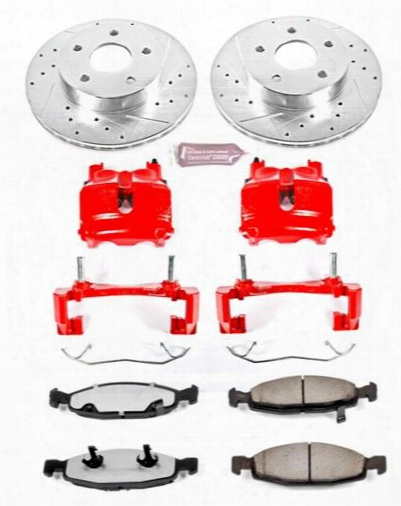 Power Suspend Power Stop Z36 Extreme Performance Truck & Tow 1-click Brake Kit With Calipers (natural) - Kc2147-36 Kc2147-36 Disc Brake Calipers, Pads An