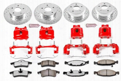 Power Stop Power Stop Z36 Extreme Performance Truck & Tow 1-click Brake Kit With Calipers (natural) - Kc2148-36 Kc2148-36 Disc Brake Calipers, Pads An