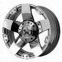 Moto Metal XD Wheels XD775 Rockstar, 22x9.5 with 6 on 135 Bolt Pattern - Chrome-XD77522966238 XD77522966238 XD Series Wheels