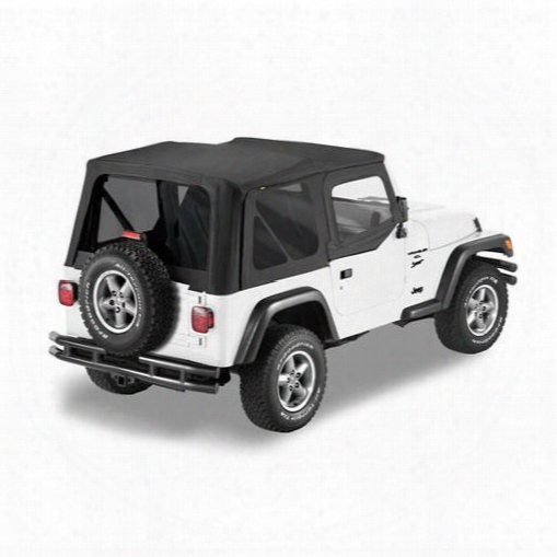 Bestop Sailcloth Tinted Replace-a-top, Upper Doorskin, Jeep Soft Top