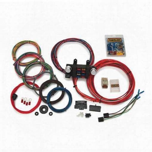 Painless Wiring Painless Wiringg Universal 18 Circuit Basic Customizable Chassis Harness W/extra Length Wires - 10307 10307 Chassis Wire Harness