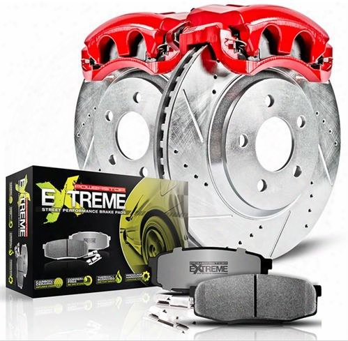 Power Stop Power Stop Z26 1-click Performance Brake Kit W/calipers (natural) - Kc2220-26 Kc2220-26 Disc Brake Calipers, Pads And Rotor Kits