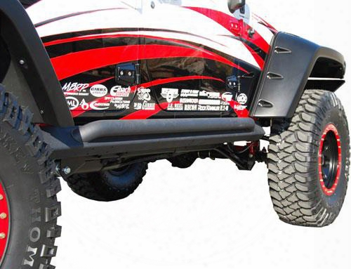 Off Camber Fabrications Off Camber Fabrications Rock Rail Kit With Line-x Coating (black) - 130714lx 130714lx Rock Sliders And Guards