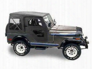 Jeep Cj5 Bestop Replace-a-top W/ Clear Windows - Black Vinyl Soft Tops