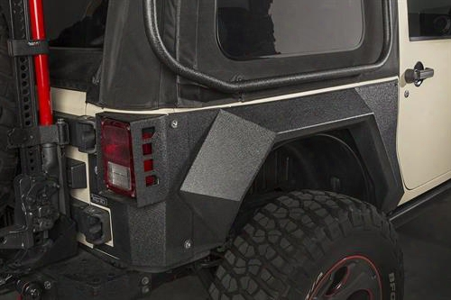 Rugged Ridge Xhd Rear Armor Fenders 11615.03 Tube Fenders