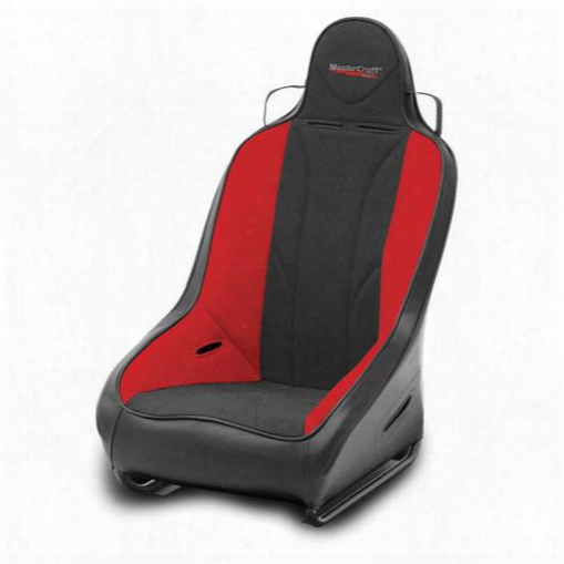Mastercraft Safet Y Mastercraft Safety 1 Inch Wider Pro Seat With Fixed Headrest (black/ Red) - 561112 561112 Seats