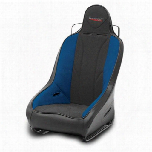 Mastercraft Safety Mastercraft Safety 1 Inch Wider Pro Seat With Fixed Headrest (black/ Blue) - 561113 561113 Seats
