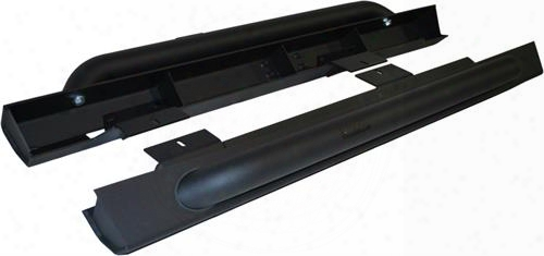 Off Camber Fabrications Off Camber Fabrications Rock Rail Kit With Line-x Coating (black) - 130880lx 130880lx Rock Sliders And Guards