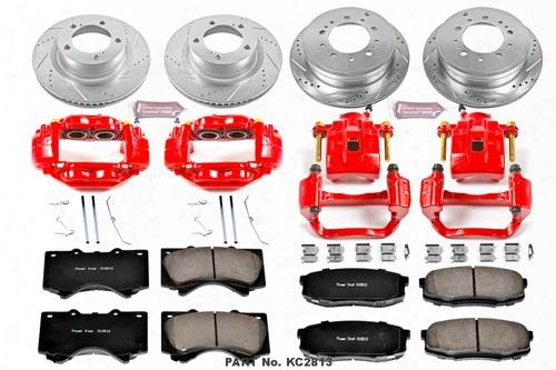 Power Stop Power Stop Power Stop 1-click Caliper Kits (natural) - Kc2813 Kc2813 Disc Brake Calipers, Pads And Rotor Kits