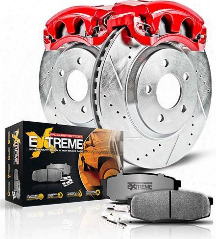 Power Stop Power Stop Z36 Extreme Performance Truck & Tow 1-click Brake Kit With Calipers (natural) - Kc2756-36 Kc2756-36 Disc Brake Calipers, Pads An