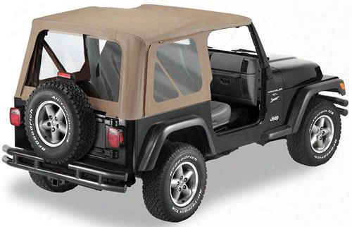 Bestop Replace-a-top With Clear Windows In Dark Tan - Jeep Soft Tops