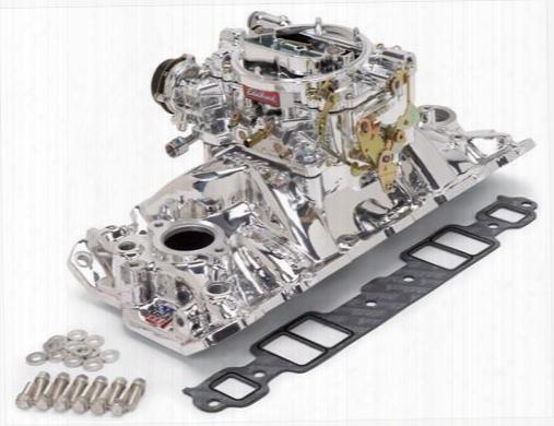 Edelbrock Edelbrock Single-quad Manifold And Carb Kit - 20214 20214 Intake Manifold/carb Kit