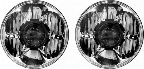 Kc Hilites Kc Hilites 7 Inch Gravity Led Pro Headlights (clear) - 42341 42341 Headlights, Housings And Conversions