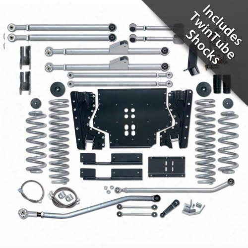 2002 Jeep Wrangler (tj) Rubicon Express 3.5 Inch Extreme-duty Long Arm Lift Kit With Rear Track Bar With Twin Tube Shocks