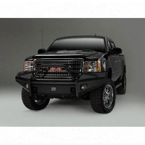 2007 Gmc Sierra 1500 Fab Fours Pre-runner Front Ranch Bumper With Tow Hooks In Bare Steel