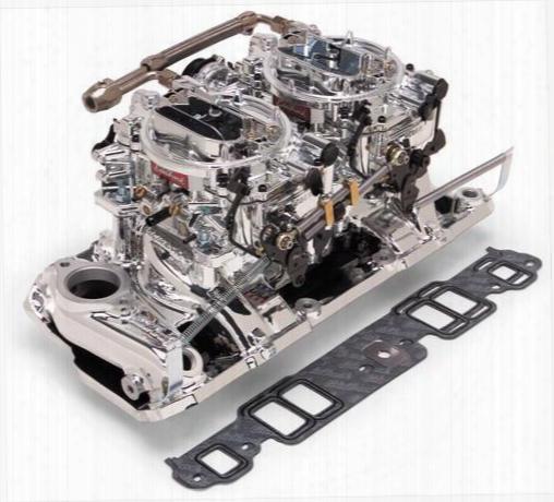 Edelbrock Edelbrock Rpm Air-gap Dual-quad Intake Manifold/carburetor Kit - 20254 20254 Intake Manifold/carb Kit