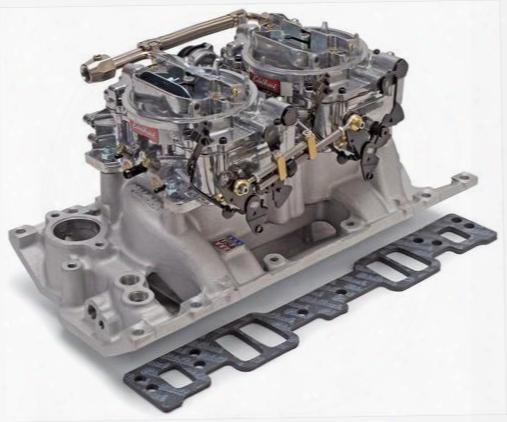 Edelbrock Edelbrock Rpm Air-gap Dual-quad Intake Manifold/carburetor Kit - 2026 2026 Intake Manifold/carb Kit