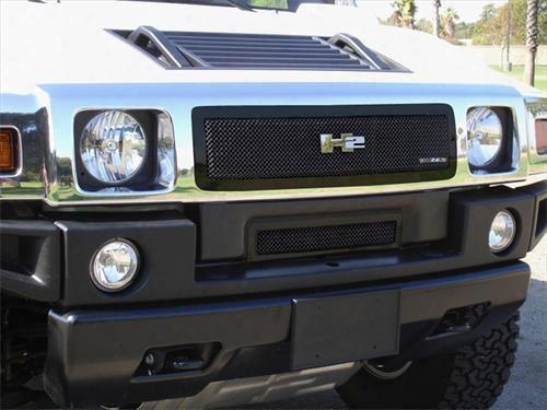 2004 Hummer H2 T-rex Grilles Upper Class; Mesh Grille Insert
