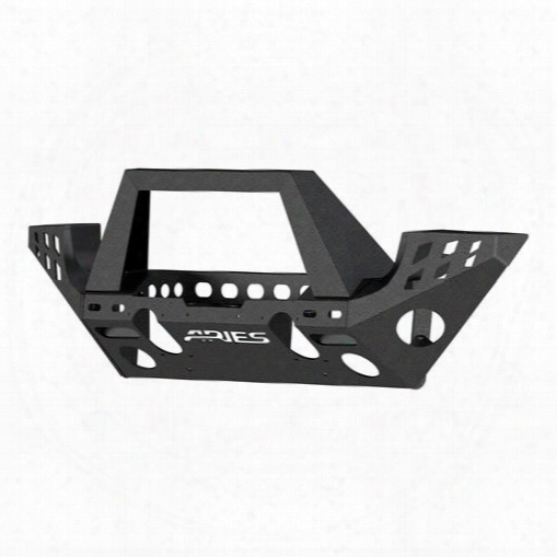 2010 Jeep Wrangler (jk) Aries Offroad Aries Offroad Trailchaser Front Bumper (option 7) (black) - 2082047