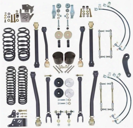2010 Jeep Wrangler (jk) Currie 4 Inch Off Road Suspension Lift Kit With Adjustable Sway Bar Links