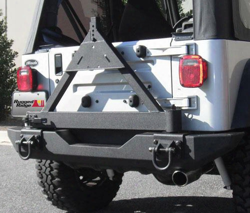 1995 Jeep Wrangler (yj) Rugged Ridge Rear Xhd Bumper With D-ring Mounts