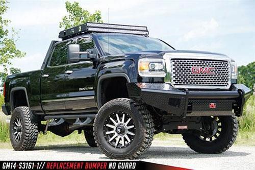 2015 Gmc Sierra 2500 Hd Fab Fours Black Steel Front Ranch Bumper In Black Powder Coat