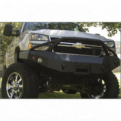 2008 Gmc Yukon Fab Fours Heavy Duty Winch Bumper With Pre-runner In Black Powder Coat
