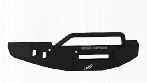 2014 Chevrolet Silverado 1500 Road Armor Front Stealth Bumper With Pre-runner Square Light Port In Satin Black