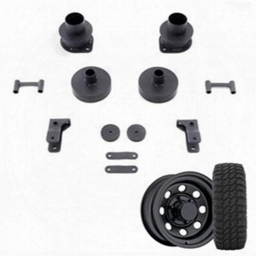 Genuine Packages 2.5 Inch Trail Master Spacer Lift Kit With Pro Comp Xmt2 Tires And Trail Master Wheel Package - Set Of 4 - Jkspecial3 Jkspecial3 Comp