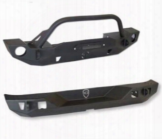 Genuine Packages Jcroffroad Crusader Front And Rear Bumpers (black) - Jkspecial18 Jkspecial18 Front Bumpers