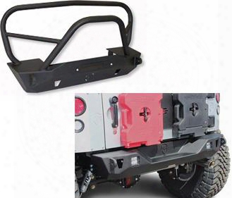 Genuine Packages Jcroffroad Deluxe Mauler Front And Rear Bumpers (black) - Jkspecial20 Jkspecial20 Front Bumpers