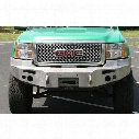 2007 GMC SIERRA 1500 Fab Fours Heavy Duty Winch Bumper in Black Powder Coat with Lights and D-ring Mounts