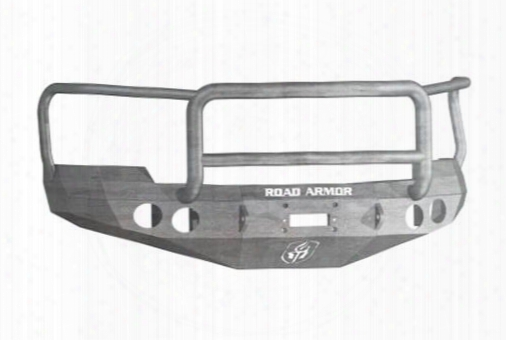 2010 Chevrolet Silverado 2500 Hd Road Armor Front Stealth Winch Bumper Lonestar Round Light Port In Raw Steel