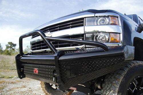2015 Chevrolet Silverado 2500 Hd Fab Fours Black Steel Front Ranch Bumper With Pre-runner Guard In Black Powder Coat