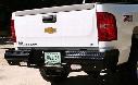 2011 GMC SIERRA 2500 HD Fab Fours Elite Rear Bumper in Bare Steel