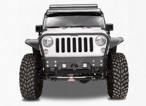 2010 Jeep Wrangler (jk) Fab Fours Full Metal Jacket Stubby Winch Bumper With Grill Guard