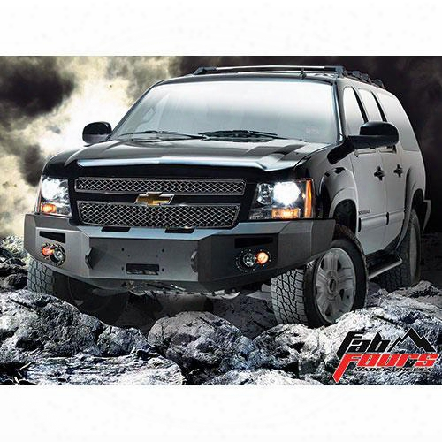2013 Chevrolet Suburban 2500 Fab Fours Heavy Duty Winch Bumper In Bare Steel With Lights And D-ring Mounts