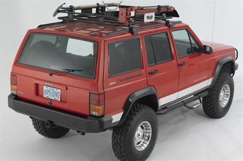 1996 Jeep Cherokee (xj) Warrior Standard Rear Bumper In Black Powder Coat