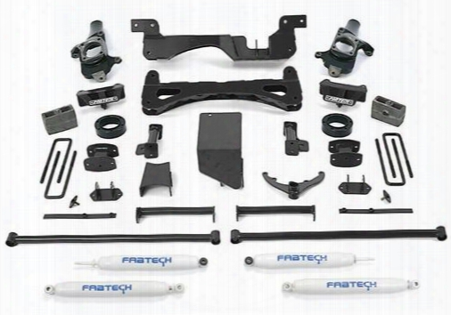 2001 Chevrrolet Silverado 3500 Fabtech 6 Inch Performance Lift Kit W/performace Shocks