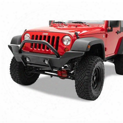 2010 Jeep Wrangler (jk) Bestop Highrock 4x4 High Access Front Winch Bumper In Matte Black