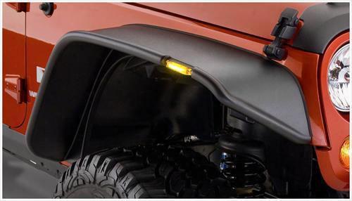 Bushwacker Jeep Jk Wrangler Front Fender Flares 10053-07 - Flat Style
