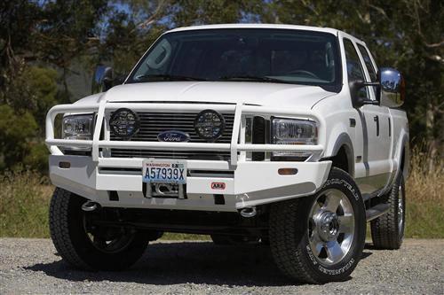 2005 Ford F-350 Super Duty Arb 4x4 Accessories Black Ford Super Duty Deluxe Bull Bar Winch Mount Bumper